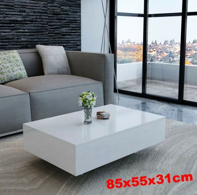 Unique Coffee Table High Gloss Modern, Modern Used Furniture
