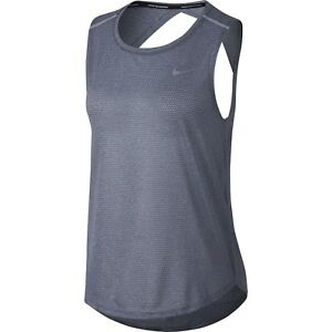 1ff87a6ad74ae New! Nike Breathe Dri-Fit Women s Lightweight Gray Mesh Running Tank ...