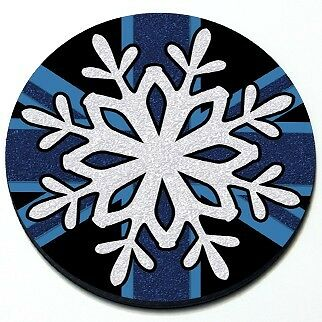 Snowflake - MINI Cooper Winter Christmas Cute Seasonal Magnet Grill Grille Badge