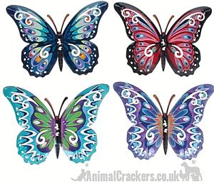 Set di 4 Farfalle in metallo 24cm Giardino Decorazione Wall Art farfalla amante regalo