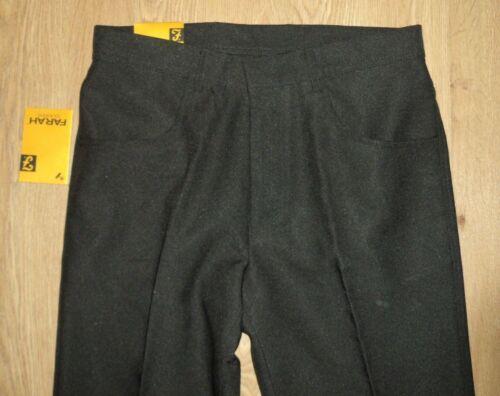 Farah L29 Standard W32 Décontracté Pantalon Noir Neuf Costume 354398s Coupe rFOrc1
