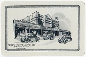 Playing-Cards-Single-Card-Old-BRISTOL-STREET-MOTORS-Ford-Cars-Dealer-Advertising