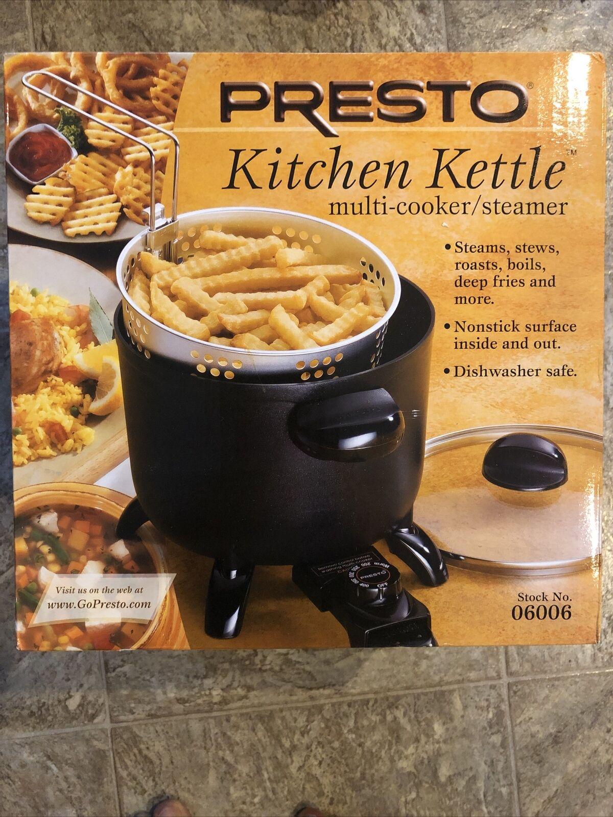 Presto 06006 Kitchen Kettle Multi Cooker Black For Sale Online Ebay