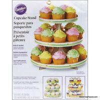 Wilton 3-tiercake Cupcake Tree Stand Party Birthday Decoration Kit White Stand