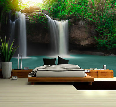 Prepasted Mural Wallpaper Wallcovering Waterfall River Scenic Home Decor 1313