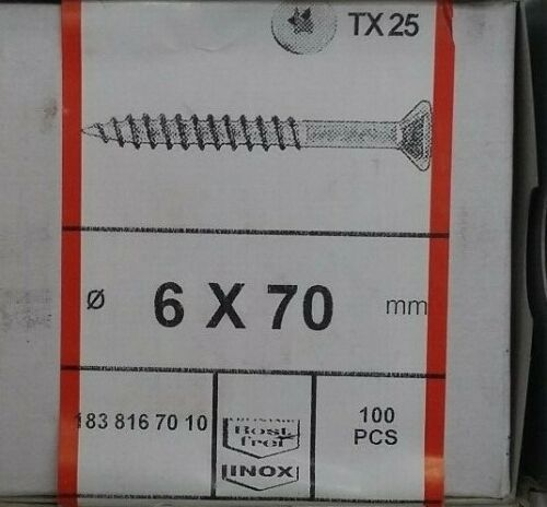 25 Stück SWG 6 x 70 V2A VA Spanplattenschrauben Holzschrauben Teilgewinde