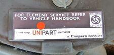 "Classic Unipart ""Element Service"" Air Filter Box Sticker Label MGB Triumph Mini"