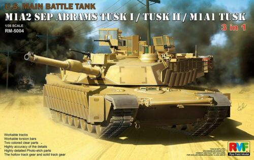 M1A2 SEP Abrams Tusk I// Tusk II// M1A1 Tusk Rye Field Model RFM RM-5004 1//35 U.S