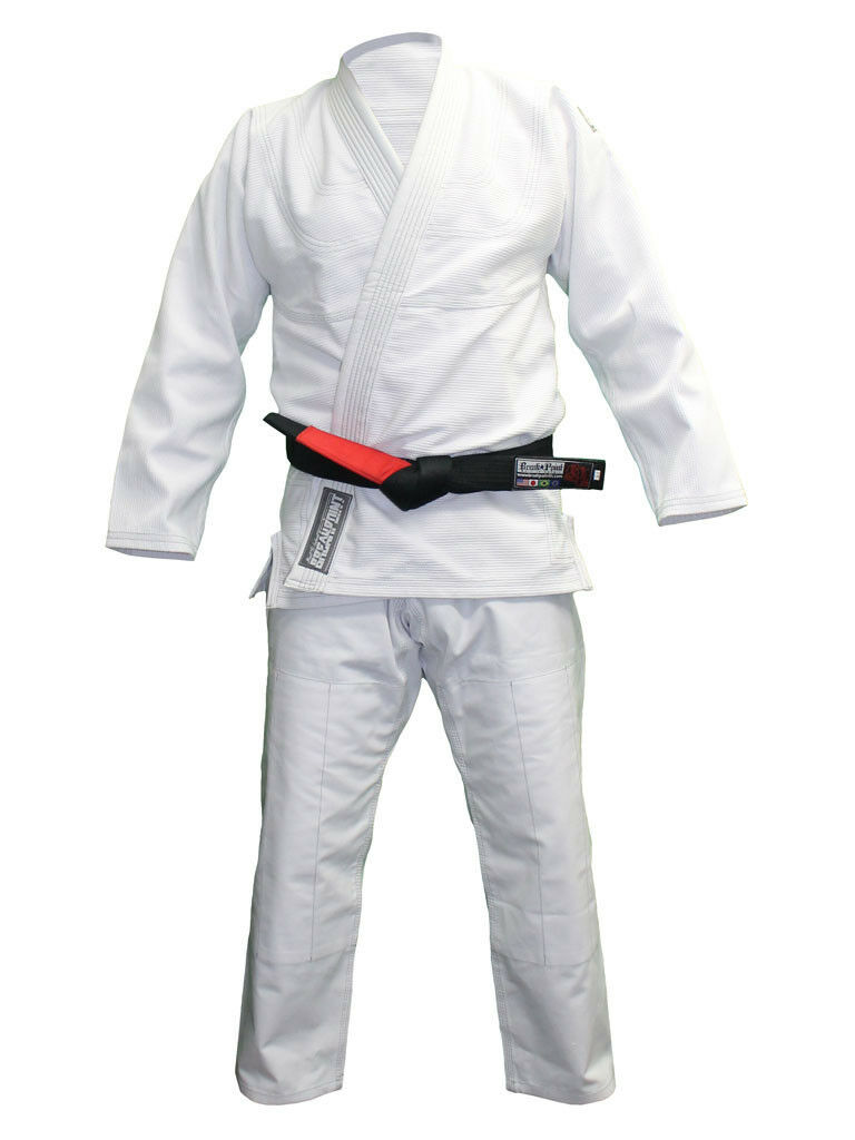 Break Point Mens Classic BJJ Jiu Jitsu Gi - White