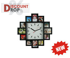 Novelty Wall Clock With 12 Photo Frames Beautiful Modern Home Decoration Family