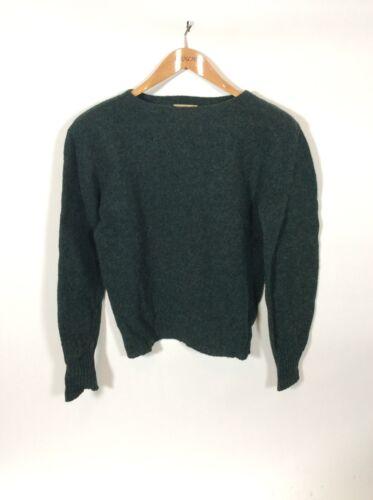 Vintage Shetland Boatneck Sweater Made By Welgrume