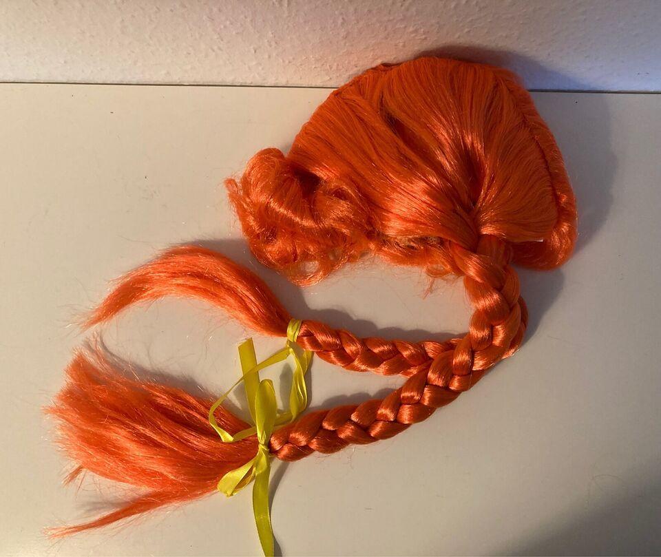 Udklædningstøj, NY Pippi Langstrømpe. Paryk , Orange