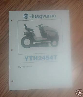 husqvarna yth2454 manual