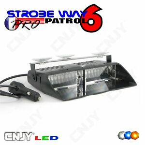 FEUX-DE-PENETRATION-PATROUILLEUR-LED-48W-STROBE-WAY-PATROL6-FLASH-PARE-BRISE-12V