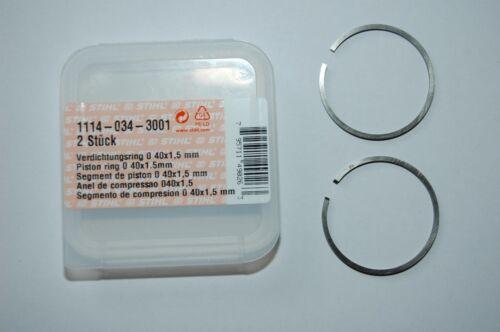 1114 2x Stihl 40mm Kolbenringe 020 MS200T FR450 FR480 MC200