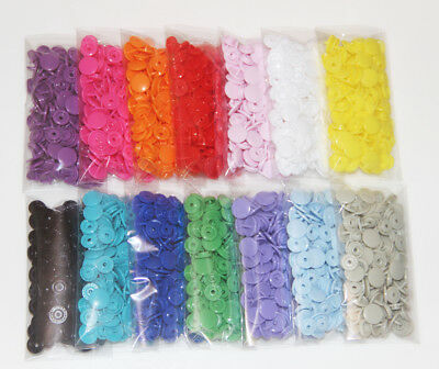 420 Sets 14-color KAM Snaps Size 20 T5 KAM Snap Plastic Fasteners Poppers  Button