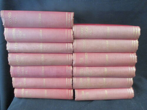COMPLETE 13 VOL. OF THE BIOGRAPHICAL EDITION OF THE WORKS OF WILLIAM M THACKERAY