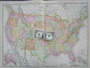Details about US XL 1912 DATED Map 1910s UNITED STATES Map USA Commercial on california map, texas map, pacific map, yukon map, nova scotia map, bc map, hawaiian islands map, north dakota map, north carolina map, aleutian islands map, colorado map, florida map, arizona map, anchorage map, kodiak island map, inside passage map, russia map, arkansas map, canada map, idaho map,