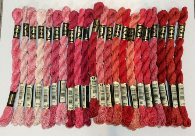 Dmc Pearl Cotton Skein Size Bright Red 3 16.4Yd