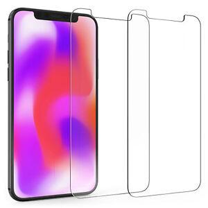 Lot-de-2-Apple-iPhone-XR-6-1-protections-d-039-ecran-en-verre-trempe-mince-Protection