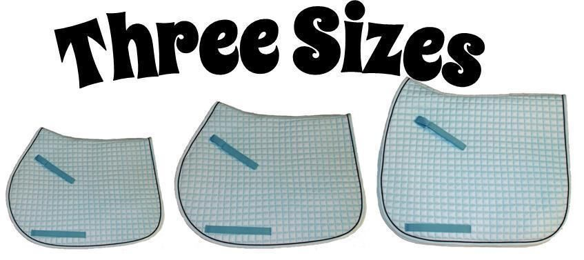 Baby  bluee English Saddle Pad in 3 Sizes  Dressage   All-Purpose   Pony  global distribution