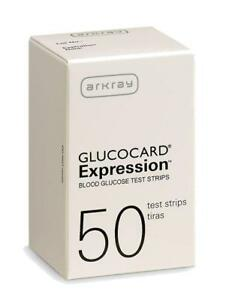 Arkray Glucocard Expression Diabetic Blood Test Strips 50ct (1 box) ~Free Ship~