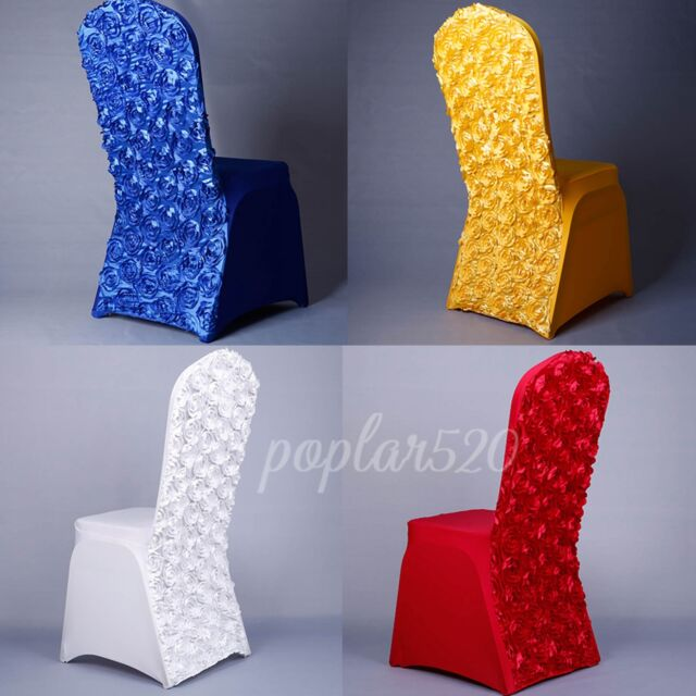 Rose Chair Cover Premium Lycra Spandex Stretch Hotel Wedding Party Decoration