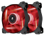 Corsair AF120 Two Fan LED Color RED Quiet Edition Twin Pack 120mm 1500RPM 3-pin