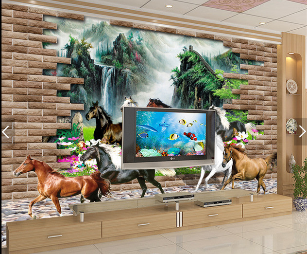 3D Horses Animal 558 Wallpaper Murals Wall Print Wallpaper Mural AJ WALL AU Kyra