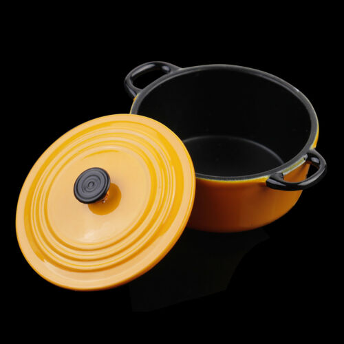 34*17mm 1:12 Dollhouse Miniature Kitchen Cooking Ware Pot Boiler Pan Toy LY