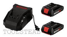 Bosch BC660 14.4v-18v Litheon Charger and 2 BAT609 18v Litheon Batteries - NEW