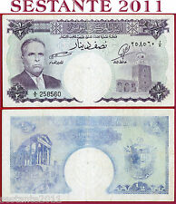TUNISIA  -  1/2 DINAR  nd 1958 Serie A3  -  P 57  -  BB / F