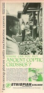 1967 Original Advertising' Vintage Ethiopian Airlines Ancient Coptic Crosses