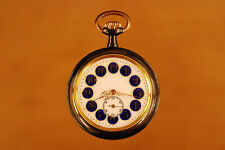 Antique Swiss gunmetal erotic automaton  pocket watch circa 1890 BREVET 24340