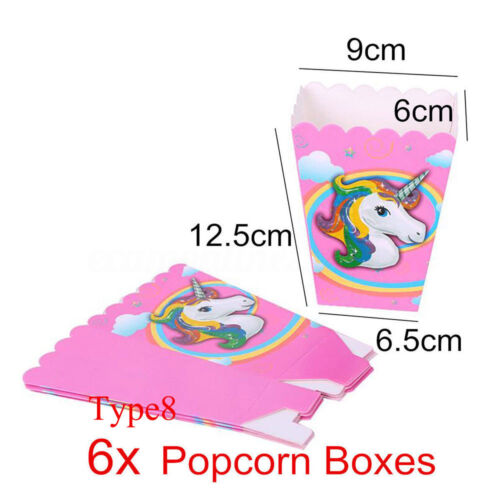 Paper Plate Fashion Tableware Unicorn Theme Party Supply Kids Birthday Decal
