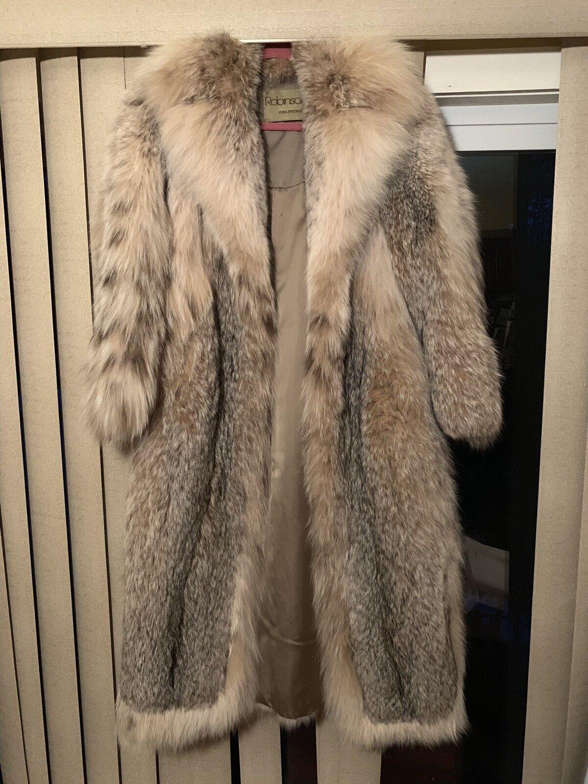 Robinson Lynx Lynx Lynx Fur Coat - Great Condition  f575c2