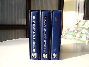 Bundesrepublik-Kuenstler-Ersttags-Blaetter-Sammlung-1987-1989-3-Baende