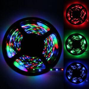 5M-SMD-3528-RGB-300-LED-Color-Changing-Flexible-LED-Light-Strip-12V-Xmas-Decor