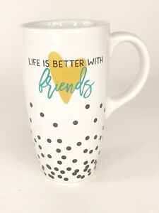 Clay-Art-Life-is-Better-With-Friends-Ceramic-Coffee-Mug-16-oz-Latte-cup