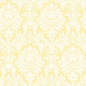 Wallpaper-Yellow-and-Eggshell-White-Damask