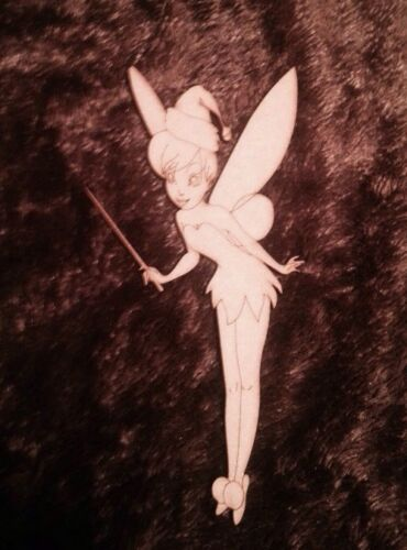 5 X Wooden Tinkerbell With Santa Claus Hat Mdf Character