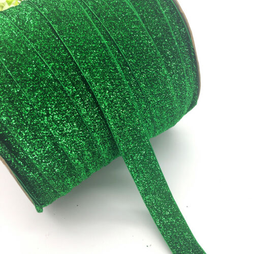 "25mm 3 yards 1/"" Wide Velvet Ribbon Headband Clips Bow Decoration U Pick color UK"