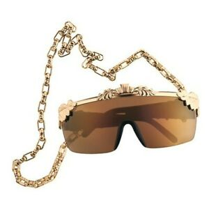 ANNA-DELLO-RUSSO-FOR-H-amp-M-GOLD-SUNGLASSES-WITH-CHAIN-IN-BOX-BNWT-RARE-DESIGNER