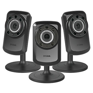 3-Pk. D-Link Wireless IP Security Camera