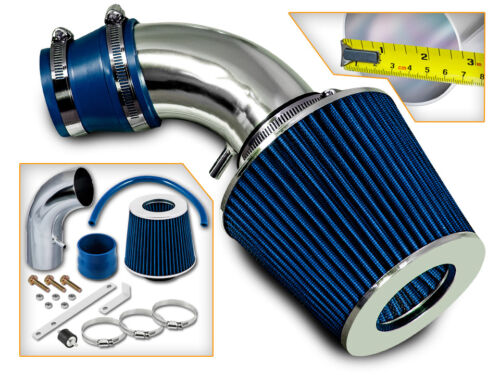 BCP BLUE Short Ram Air Intake Racing System Filter For 2001-2005 Accent 1.6L