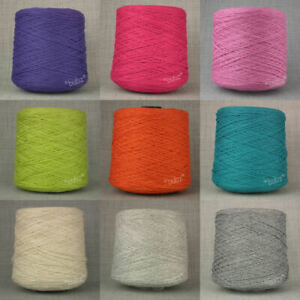 SUPER SOFT WOOL BLEND 3 PLY 500g CONE SCHOOL GREY HAND /& MACHINE KNITTING YARN