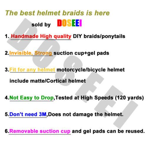 Pure Hand-made Helmet Braids Ponytail Motorcycle Helmet Wig Hair 1pcs 31#