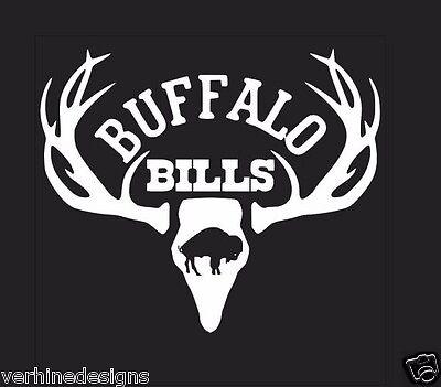 Deer Hunting Antler Truck or Car Window Decal Sticker Buffalo Bills Football