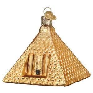 Old-World-Christmas-EGYPTIAN-PYRAMID-20118-N-Glass-Ornament-w-OWC-Box