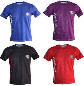 Alfa-Romeo-T-shirt-Maglietta-Camiseta-giulia-quadrifoglio-stelvio-giulietta-gta